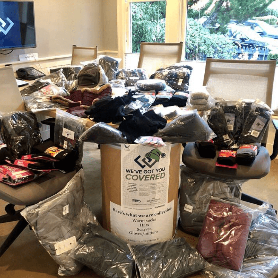 The Windermere Madison Park office collected 140 items including 8 new down parkas!