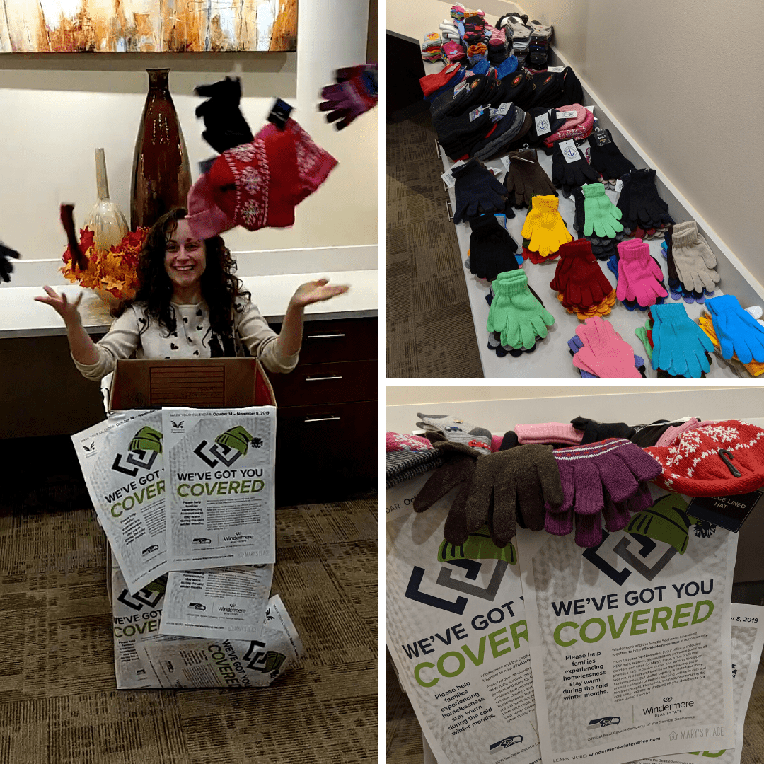 Totaling 230 items, Windermere Redmond collected 57 hats, 97 socks, 73 pairs of gloves and 3 scarves during this years drive.